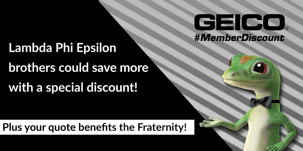 Geico New Quote Cool Geico Partnership  Lambda Phi Epsilon International Fraternity Inc.