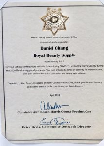 Commendation from Constable