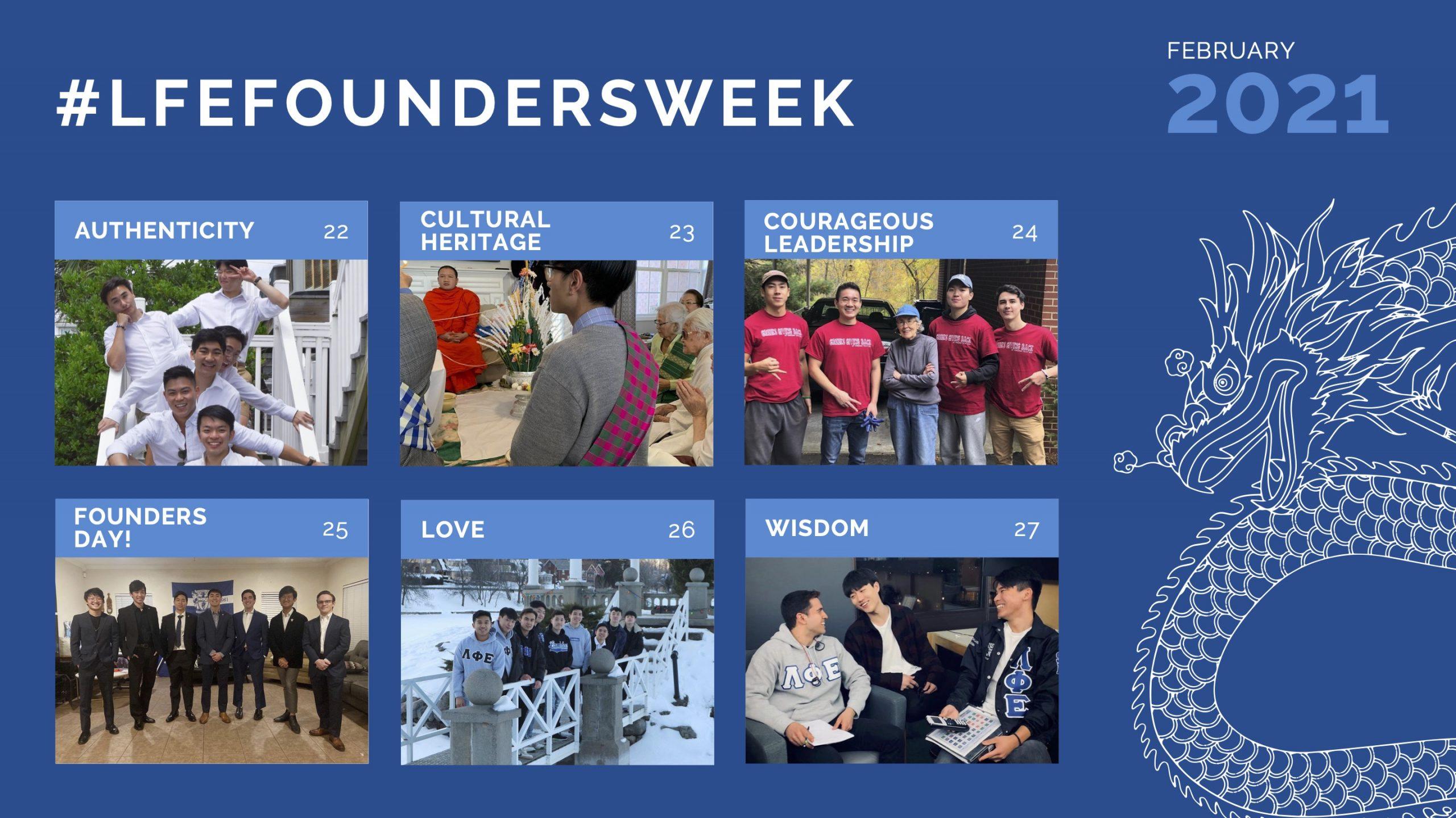 Founders Week 2021 Weekly Collage
