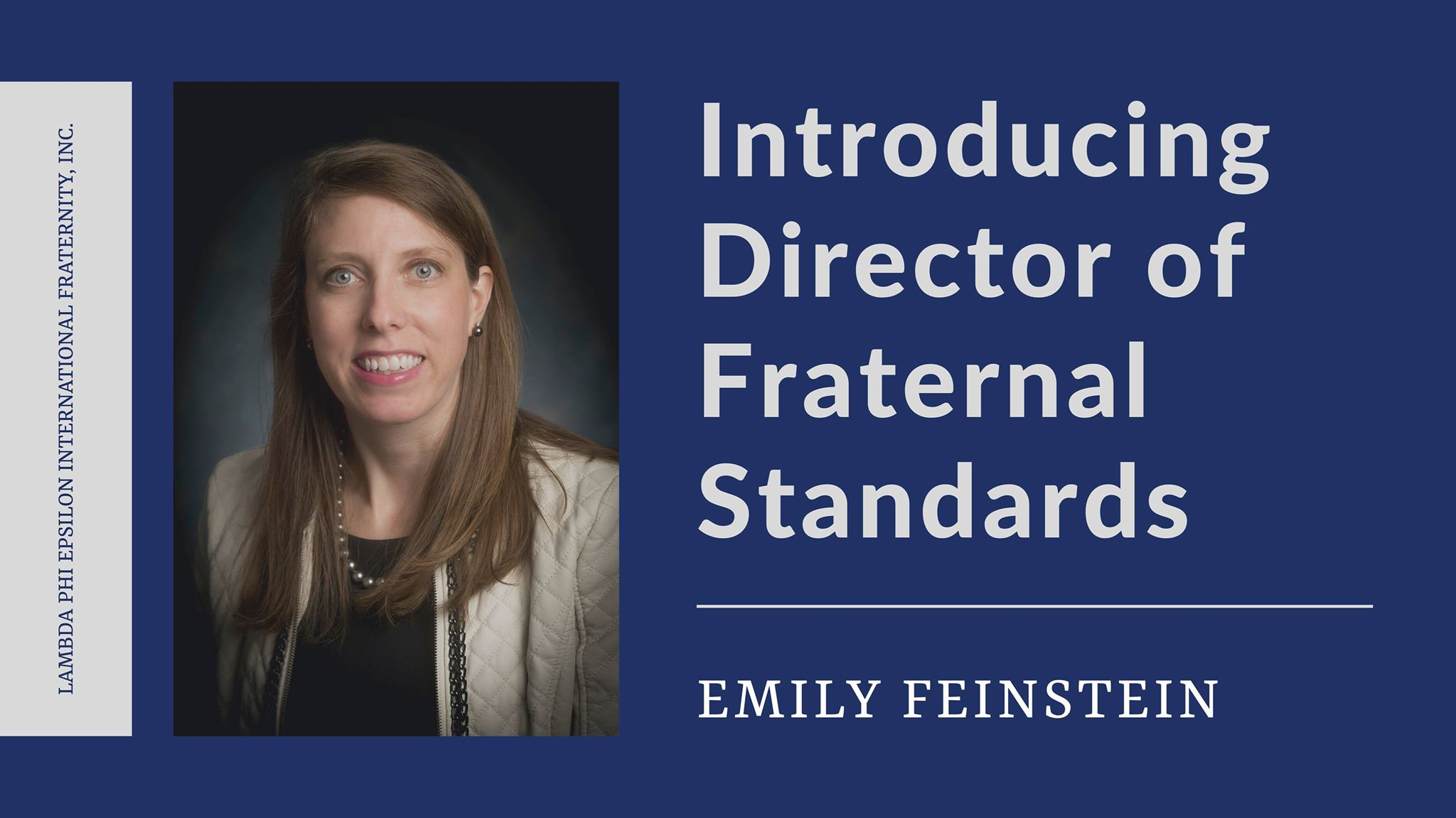 Emily Feinstein hired as Director of Fraternal Standards