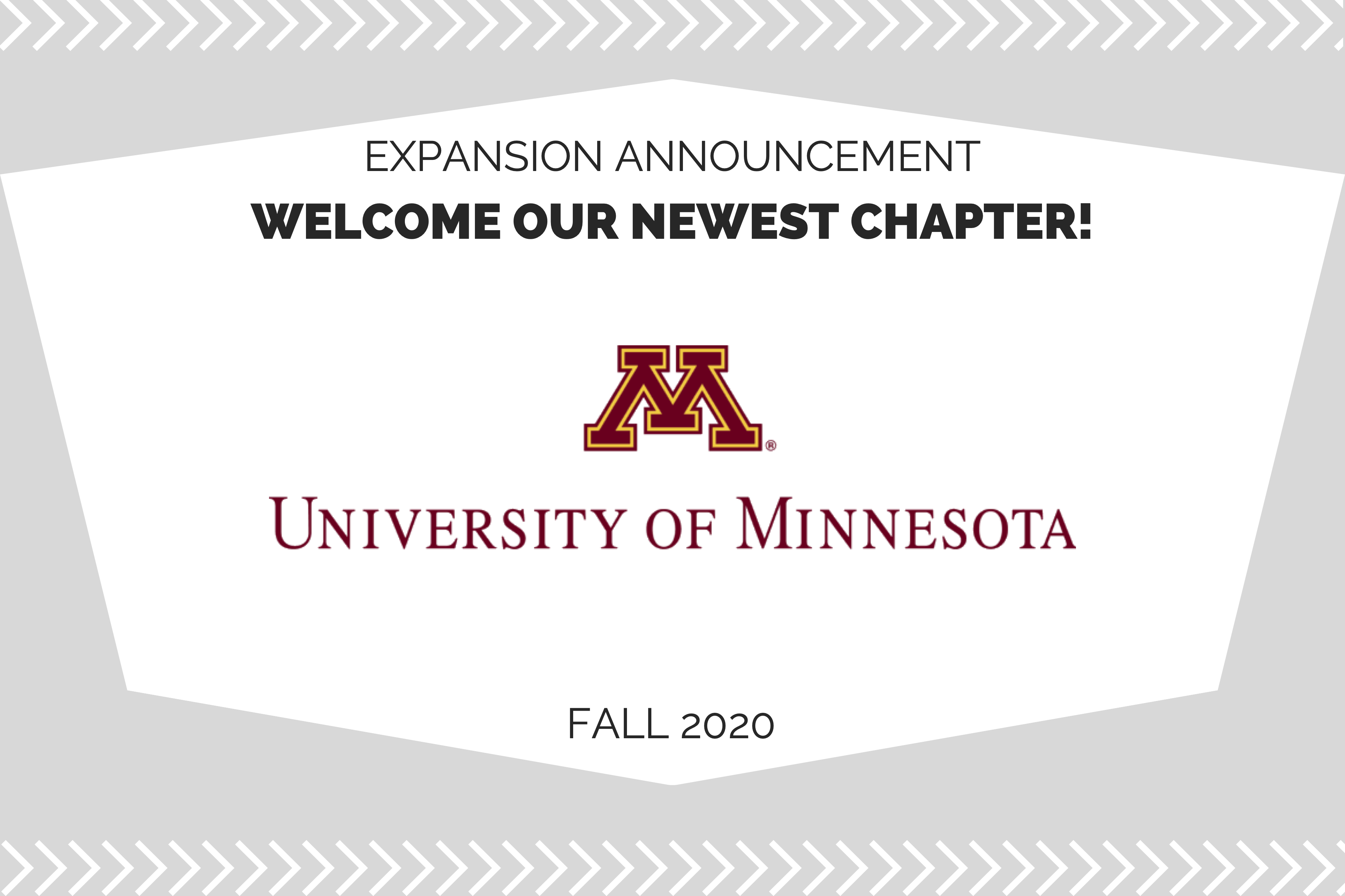 Welcome our newest chapter at the University of Minnesota