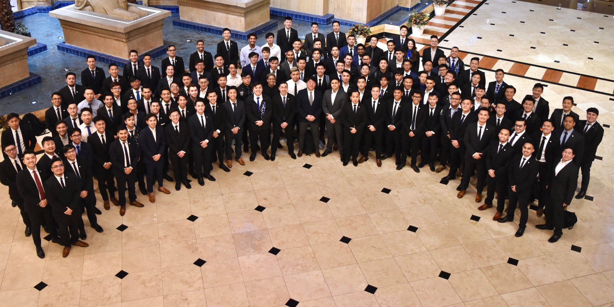 Group photo of chapter presidents at Luxor Resort