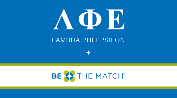 Be The Match with Lambda Phi Epsilon