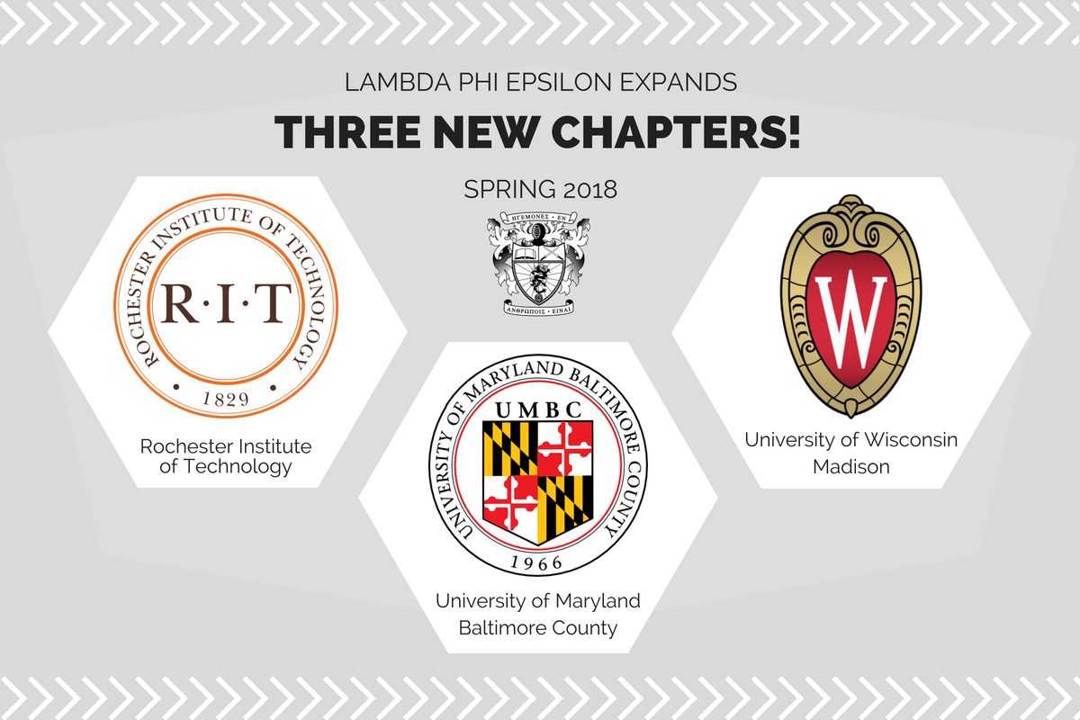 Three New Chapters at RIT, UMBC, UWM