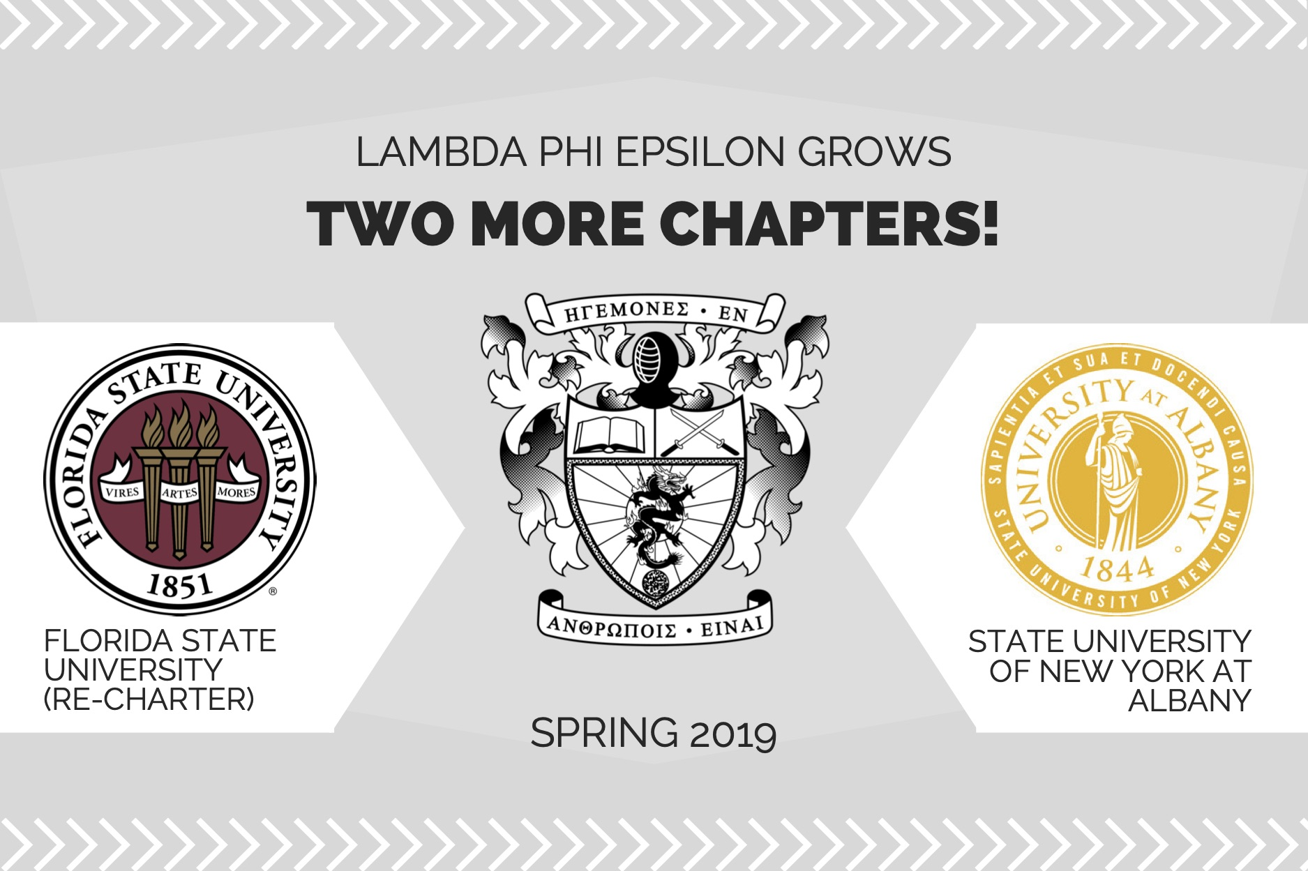 Lambda Phi Epsilon grows two more chapters in Spring 2019