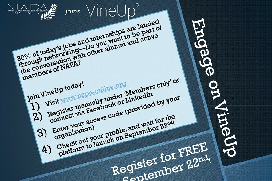 VineUp Registration